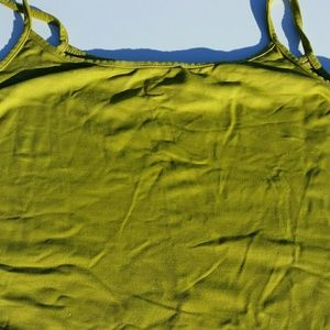 Lighter shade of olive green cami/tank top